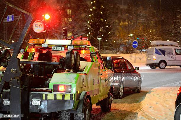 Rescue vehicle on winter roads