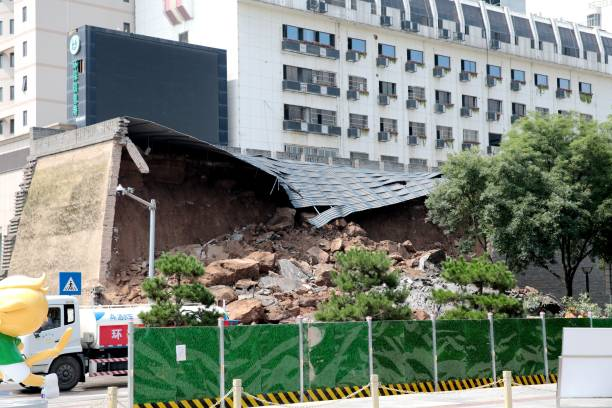 CHN: Ancient Wall Collapses In Xi'an