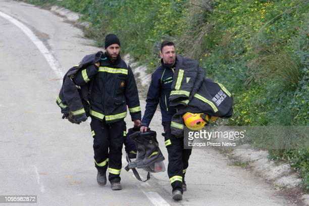 Rescue workers continue efforts to find toddler Julen Rosello who fell down a narrow 100metredeep borehole last Sunday on January 18 2019 in Málaga...