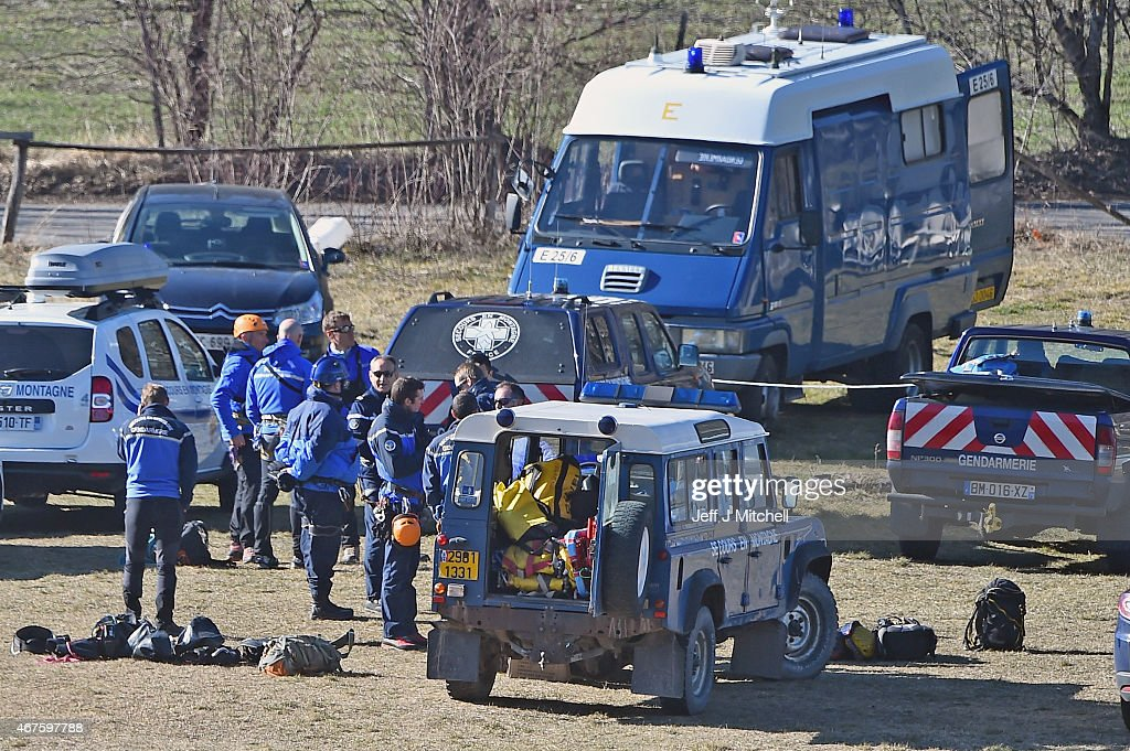 Families Of The Germanwings Airbus Crash Victims Arrive At The Site : News Photo