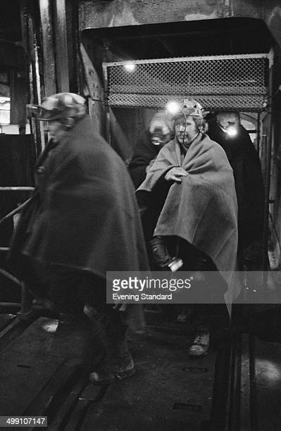 Rescue workers during a sixday rescue operation at Lofthouse Colliery near Wakefield in West Yorkshire England 22nd March 1973 Seven miners had been...