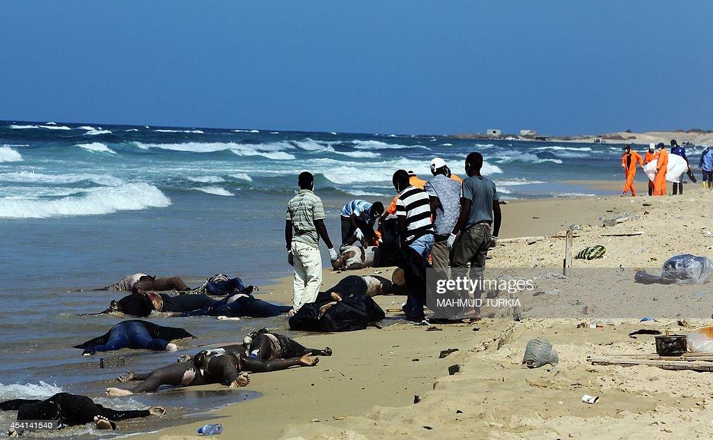 LIBYA-IMMIGRATION-ACCIDENT : Nachrichtenfoto
