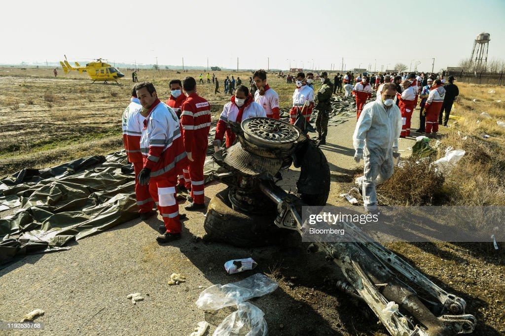 Boeing Co. 737 Bound for Ukraine Crashes In Iran : News Photo