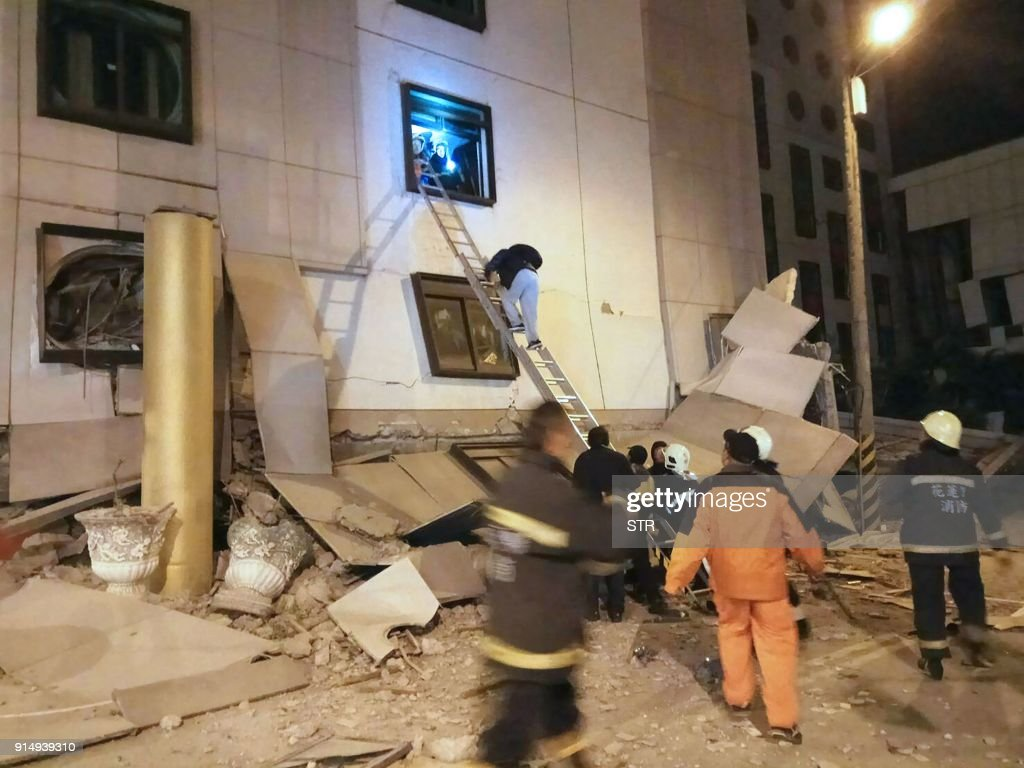 TAIWAN-EARTHQUAKE : News Photo