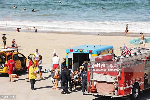 Rescued Accident Victim Emergency Ambulance Response