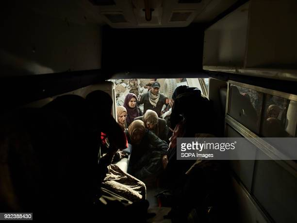 Rescued civilians board an ambulance near the AlNuri mosque The city of Mosul in northern Iraq has been under Islamic State militants control for 3...