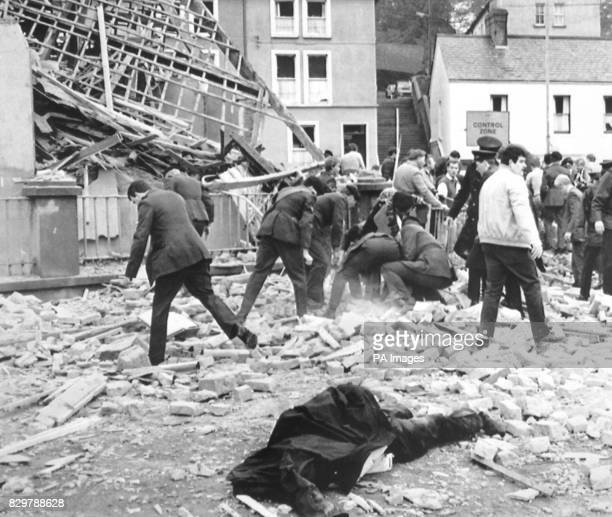 Rescuers continue to look for survivors after a bomb explosion claimed 11 lives and injured 60 others in the County Fermanagh town as crowds gathered...