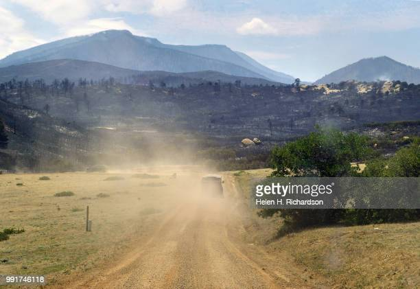 Rescuers head in to look for 3 horses that were set free as the Spring Fire started in Piney Ridge Ranch on July 4 2018 in La Veta Colorado The...