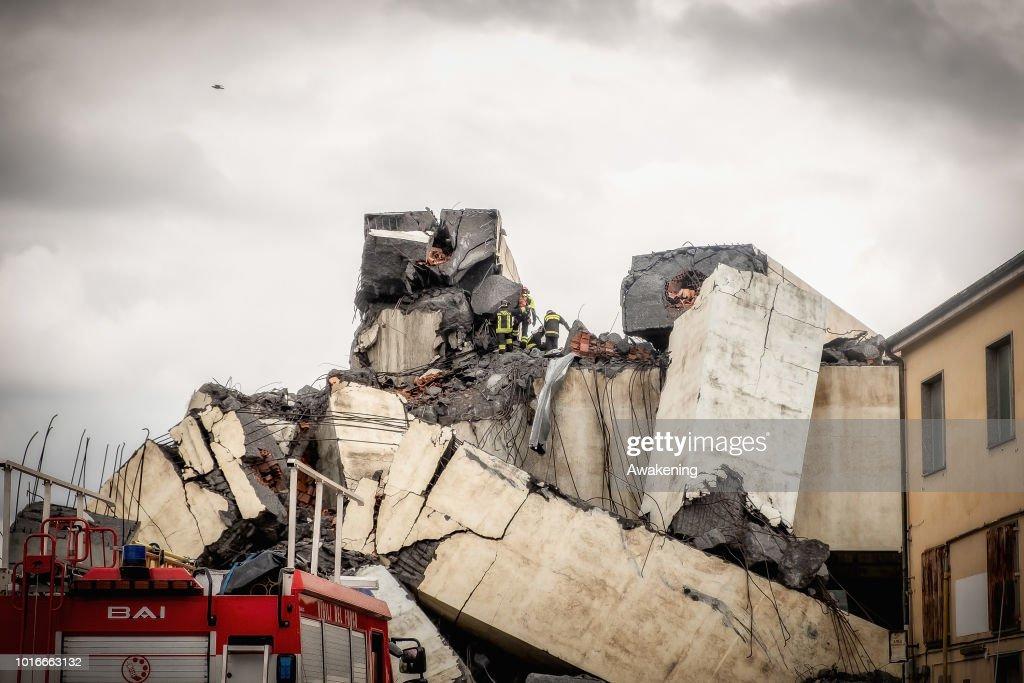 Morandi Bridge Collapse in Genoa, Italy