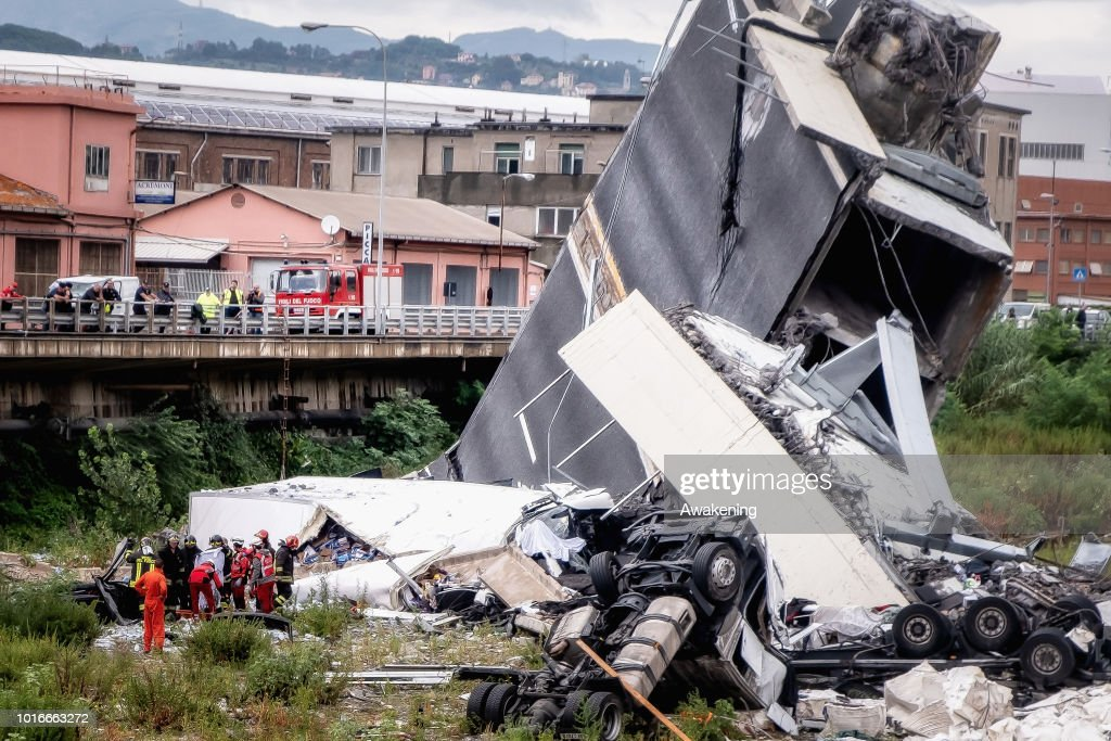 Morandi Bridge Collapse in Genoa, Italy