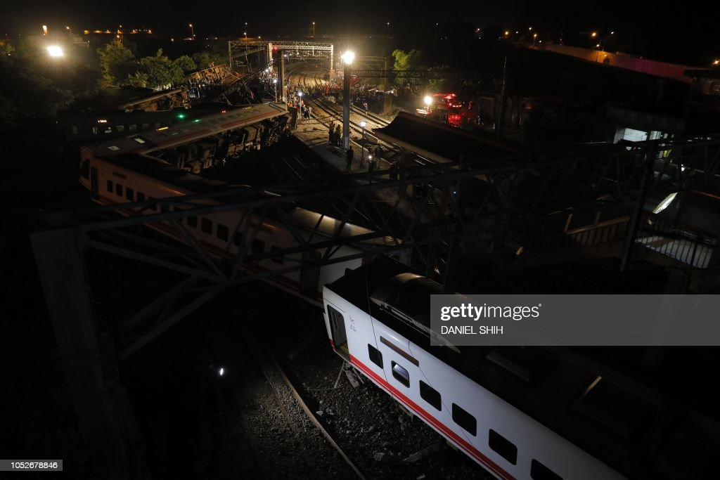 Taiwan Train Accident News Photo