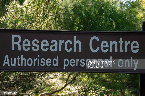 'Research centre: Authorised personnel only' sign