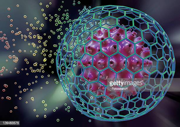 research, digitally generated image, computer graphic, molecular structure, anatomy - herpes labial fotografías e imágenes de stock