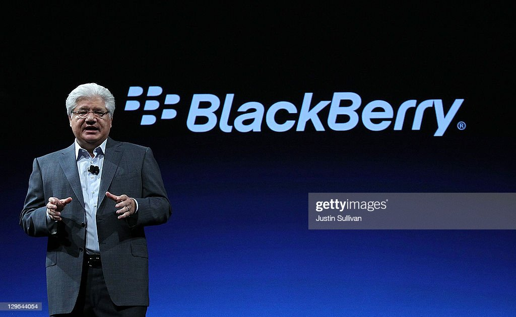 BlackBerry CEO Addresses Company's DevCon Gathering : News Photo