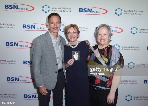 Research Network Executive Director William Repicci Dr Emily Iker and actress Kathy Bates attend Academy Award Winner and LERN Spokesperson Kathy...