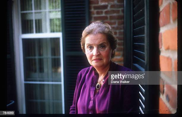 Research Professor of International Affairs at Georgetown University's School of Foreign Service Madeleine Albright stands June 21, 1988 in...