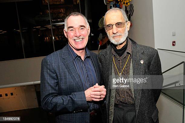 Research scientist Victor DeNoble and Frank Serpico attend the Addiction Incorporated screening at the Celeste Bartos Theater at the Museum of Modern...
