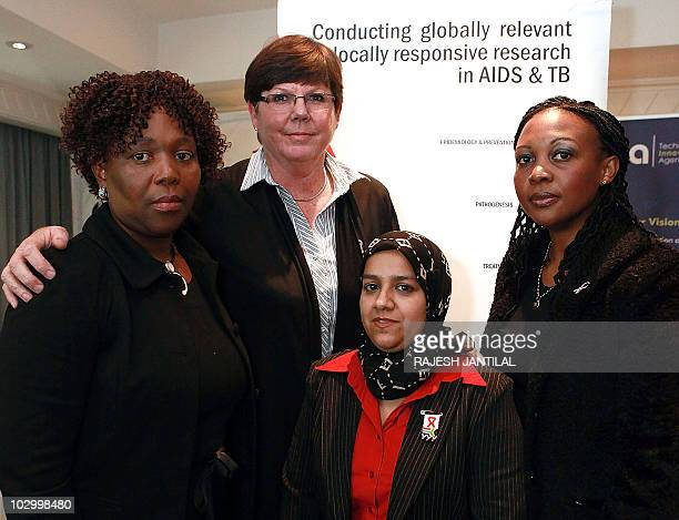 Research scientists from the Centre for Aids Programme Research in South Africa Doctors Koleka Mlisana Janet Frohlich Leila Mansoor and Senge Sibeko...