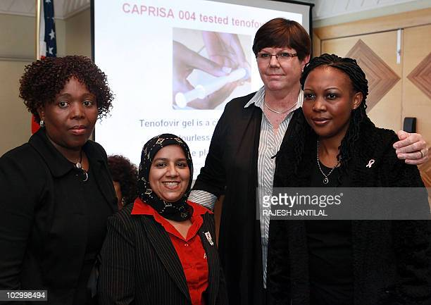 Research scientists from the Centre for Aids Programme Research in South Africa Doctors Koleka Mlisana Leila Mansoor Janet Frohlich and Senge Sibeko...