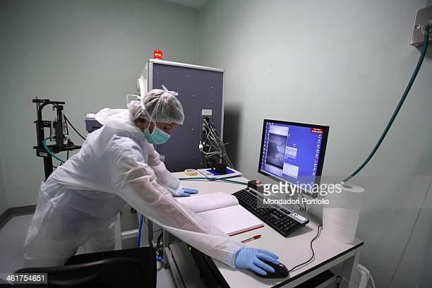 A researcher from the professor Silvio Garattini's team working at the Mario Negri Institute for Pharmacological Research Milan Italy 25th May 2010