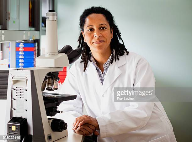 Researcher in hematology lab, portrait