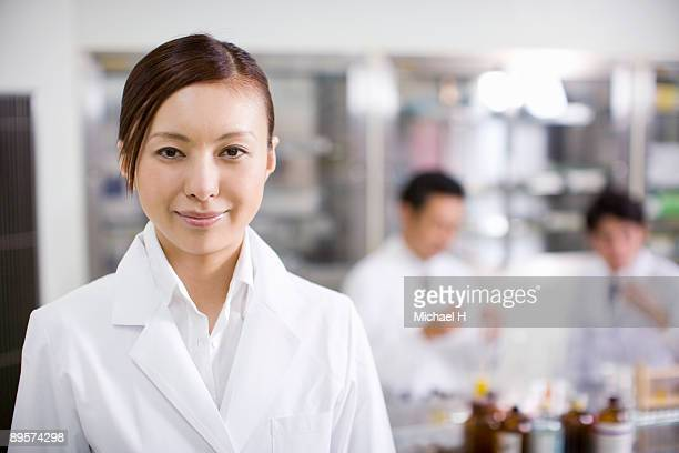 Researcher of young woman