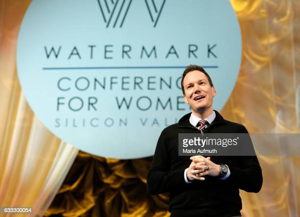 Researcher Shawn Achor speaks at the Watermark Conference for Women at San Jose Convention Center on February 1 2017 in San Jose California