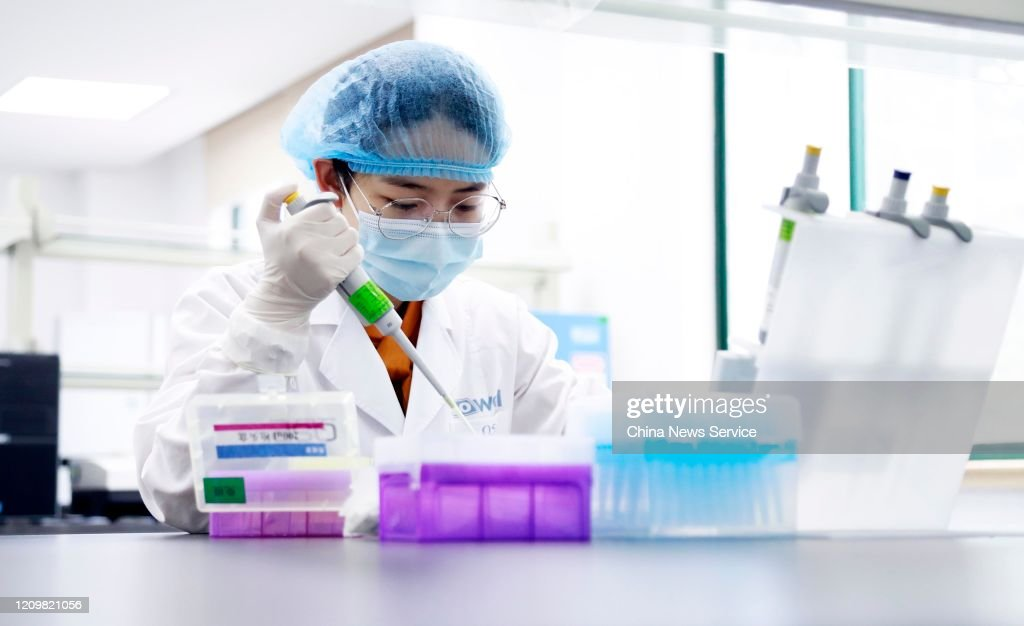 Nucleic Acid Test On Corona Virus Disease 2019 : News Photo