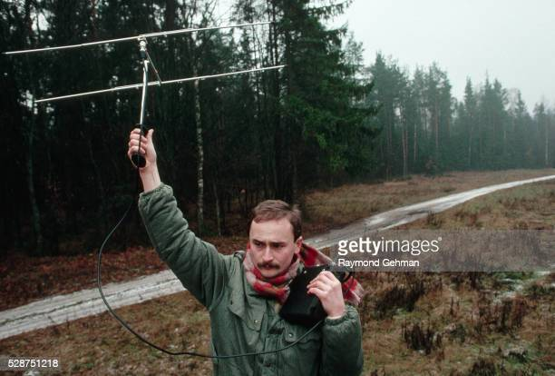 researcher tracking lynx - bialowieza forest stock pictures, royalty-free photos & images