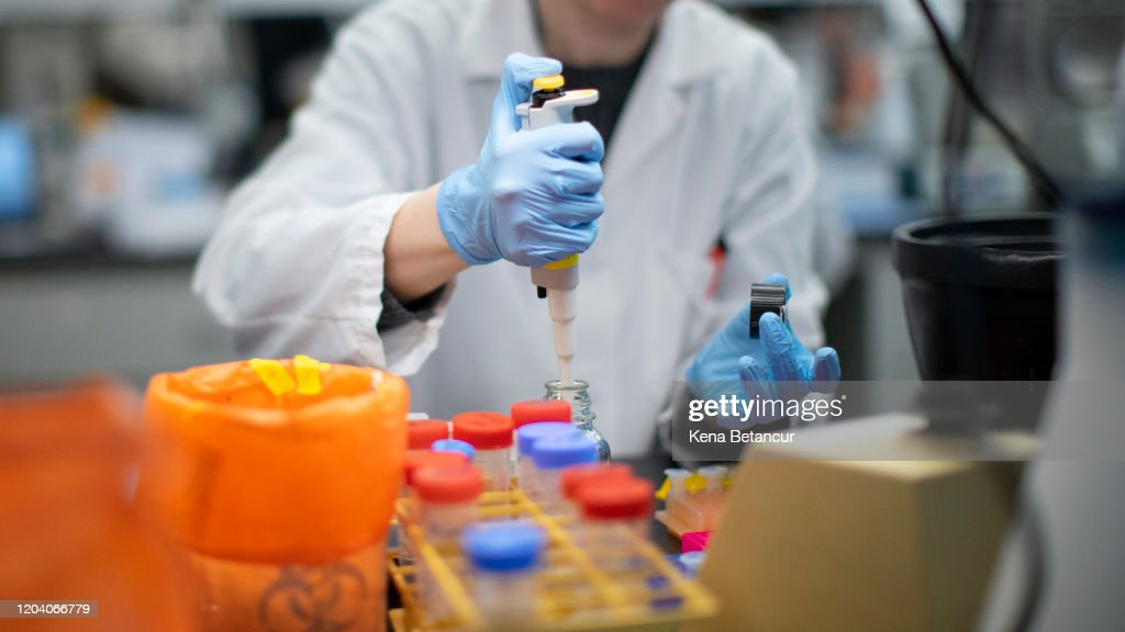 Researchers Work On Developing Test For Coronavirus At Hackensack Meridian's Center For Discovery and Innovation : News Photo