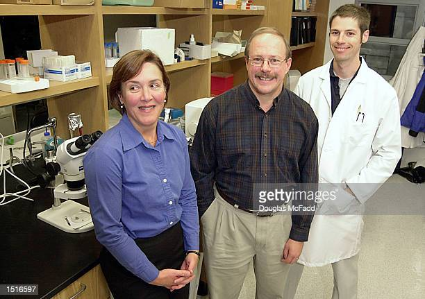 Researchers at The Forsyth Institute, Principal Investigator Pamela C. Yelick PhD, lead author Conan S. Young PhD and John D. Bartlett PhD stand in...