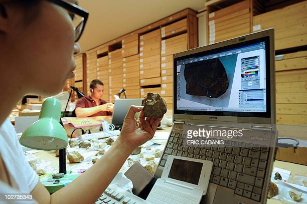 Researchers work on July 8 at the archaeological reserves of the European Centre for Prehistoric Research in Tautavel This centre was established in...
