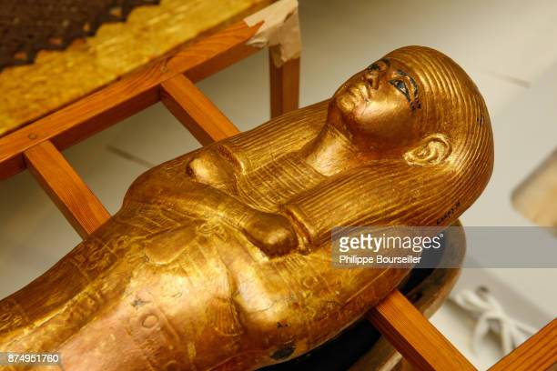 Reserve at the GEM where the pieces from the Tutankhamen treasure are stored they have never been exposed to the public and are awaiting restoration