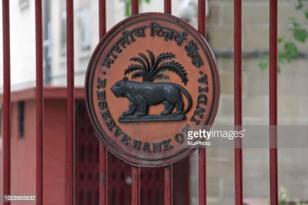 RBI Reserve bank of India Logo can be seen in New Delhi India on 22 July 2018