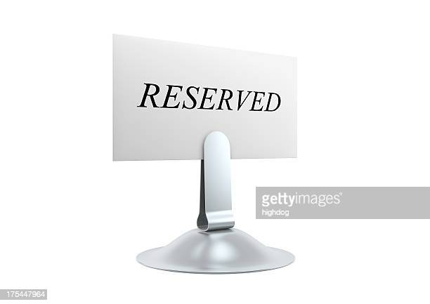Reserved Card and Holder