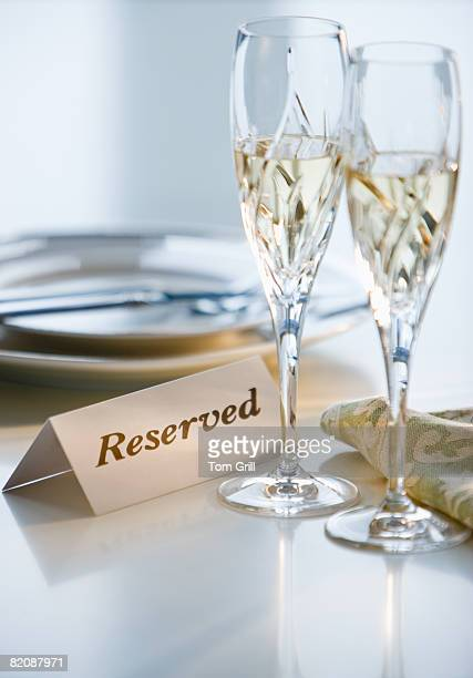 Reserved Dinner Table