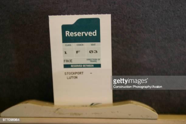 Reserved seat ticket on Midland Mainline. September 2004, United Kingdom.