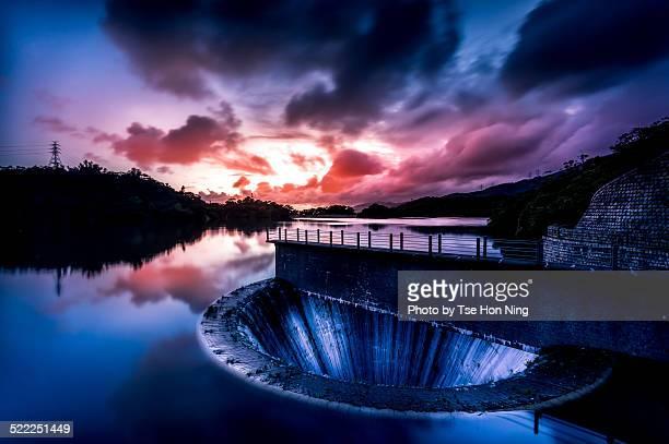 Reservoir at sunset