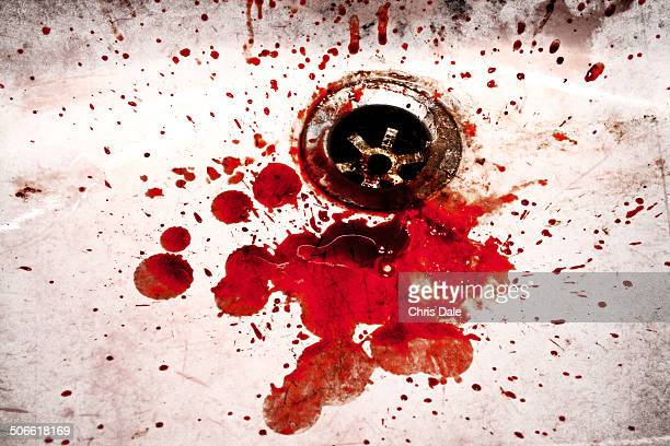 reservoir dogs - blood in sink stock pictures, royalty-free photos & images