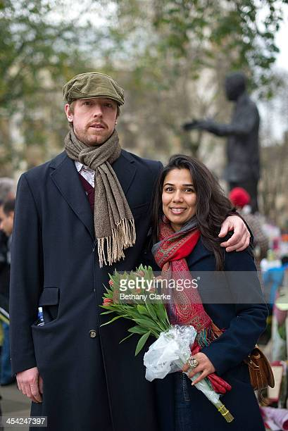 Reshma Lobo from India Mark Kelder from Holland Mandela was the last true leader there is nobody else like him on December 7 2013 in London England...