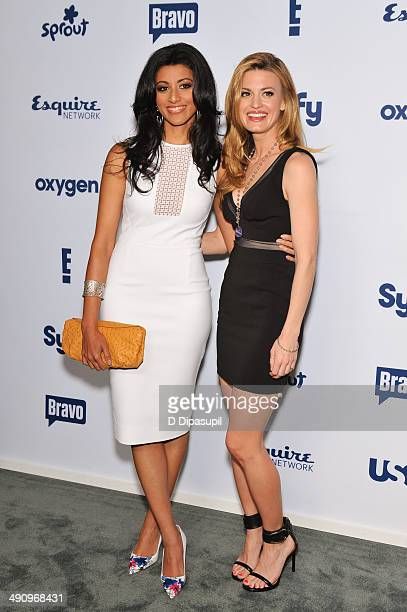 Reshma Shetty and Brooke D'Orsay attend the 2014 NBCUniversal Cable Entertainment Upfronts at The Jacob K Javits Convention Center on May 15 2014 in...