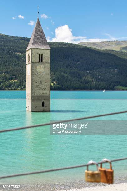 Resia Lake - Lago di Resia - Reschensee in Val Venosta, South Tyrol, Italy