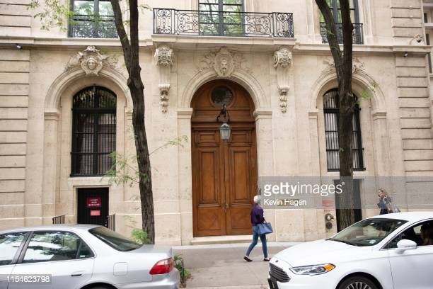 A residence belonging to Jeffrey Epstein at East 71st street is seen on the Upper East Side of Manhattan on July 8 2019 in New York City According to...