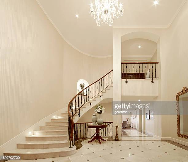 residence entrance - staircase stock photos and pictures