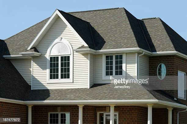Residence, Home With Vinyl Siding, Brick, Gabled Architectural Design