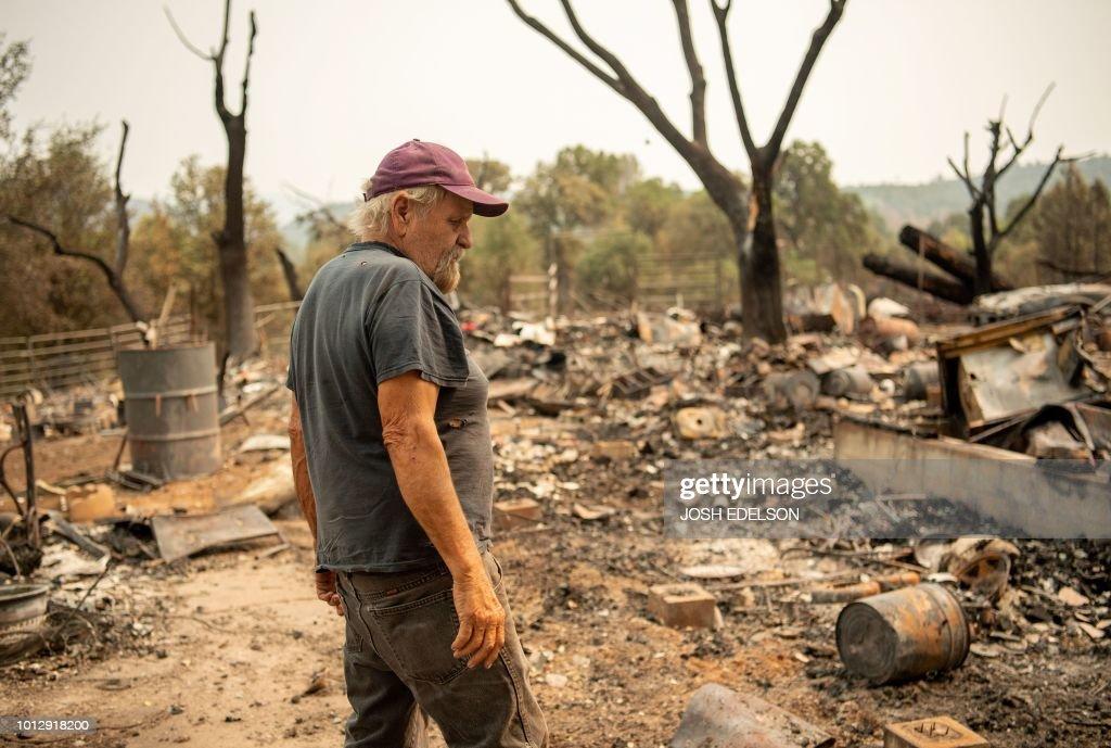 TOPSHOT-US-ENVIRONMENT-FIRE : News Photo
