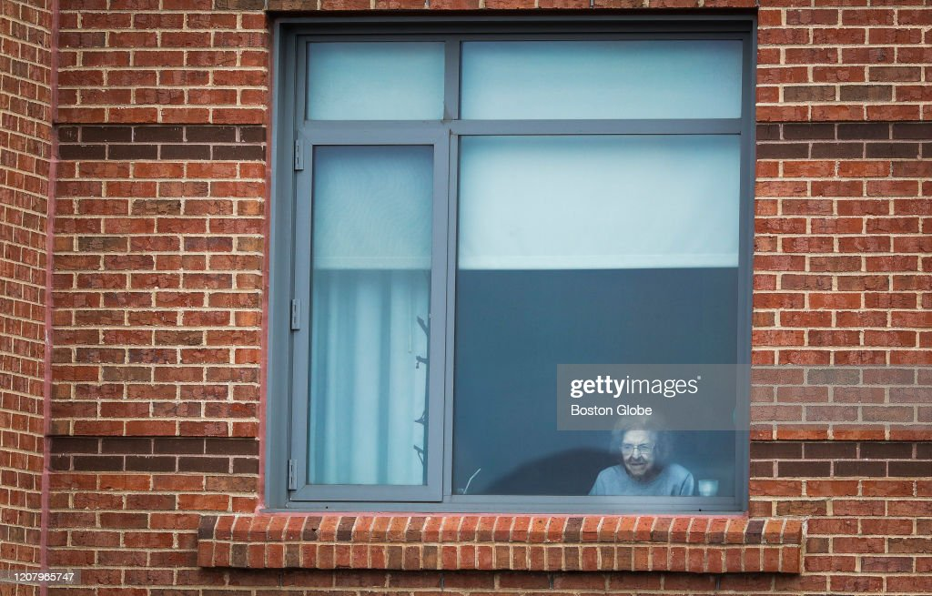 Nursing Home Puts On Musical Performance While Residents Watch From Windows : News Photo
