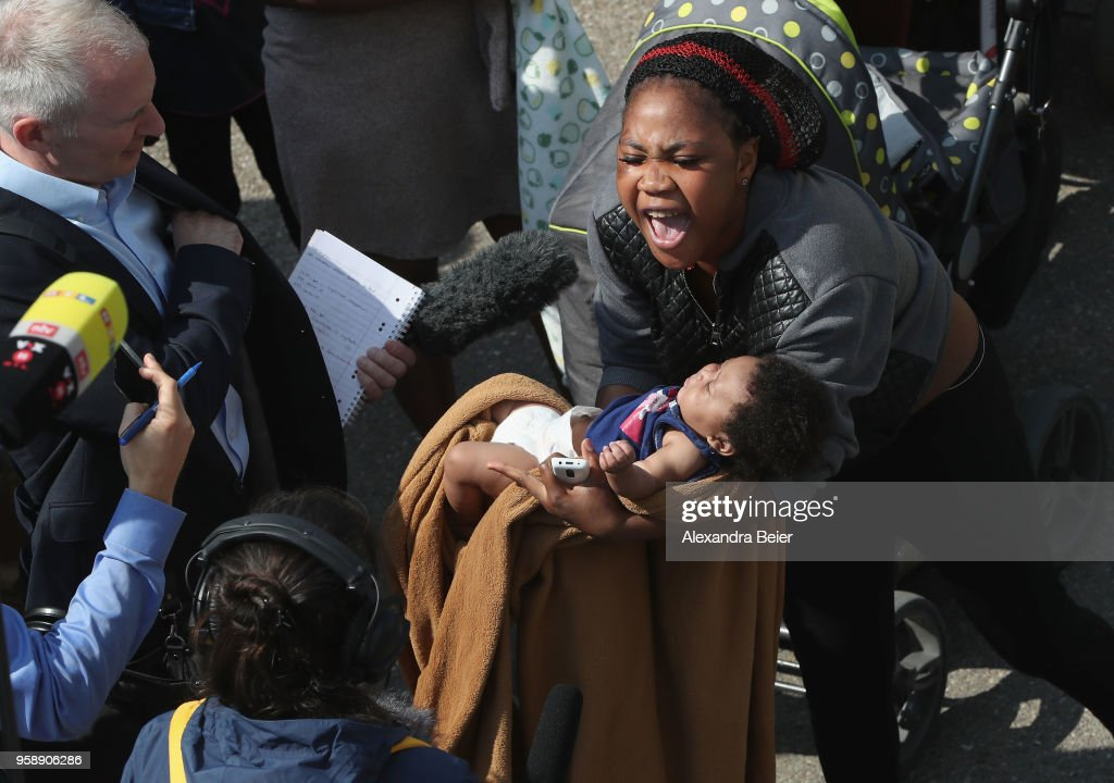 Press Day At Transit Center For Asylum Seekers : News Photo