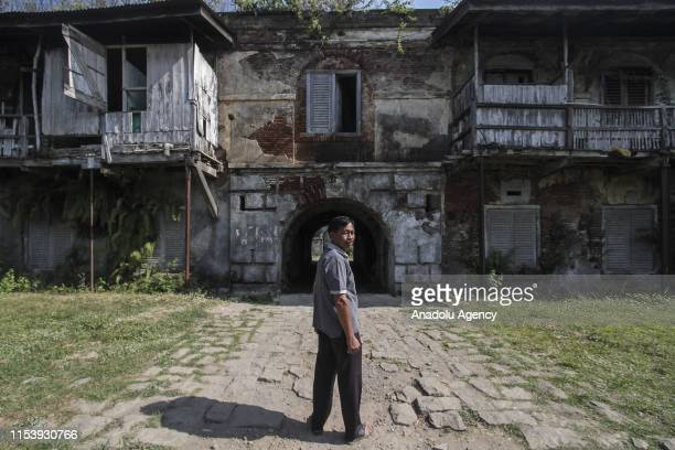 A resident is seen inside the area of Benteng Pendem in Ambarawa Central Java Indonesia on July 3 2019 The fort is built in 18161879 during the era...