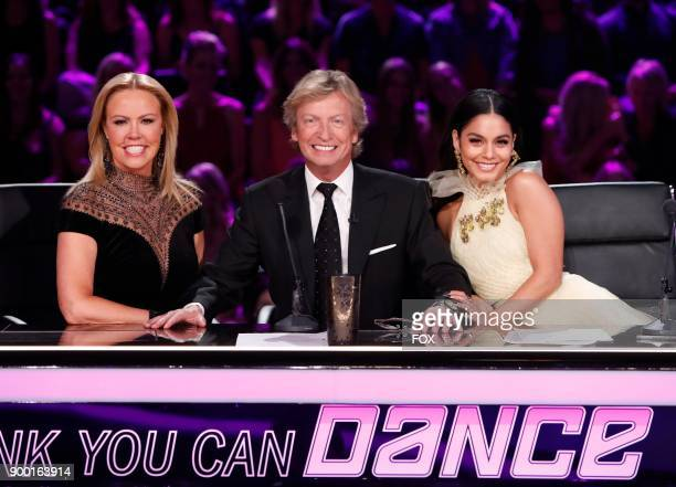 Resident judges Mary Murphy Nigel Lythgoe and Vanessa Hudgens on the Season Finale of SO YOU THINK YOU CAN DANCE airing Monday September 25 on FOX